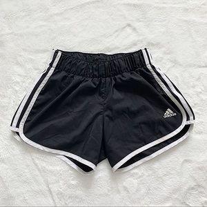 ADIDAS | Black 3 stripe running shorts size XS